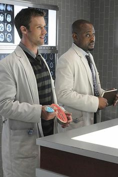 "House - Season 7 - ""Fall From Grace"" - Jesse Spencer as Chase and Omar Epps as Foreman"
