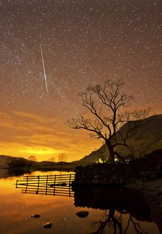 Shooting Star Over Crummock Water. ( I loved the stars too fondly to be fearful of the night - Galileo)