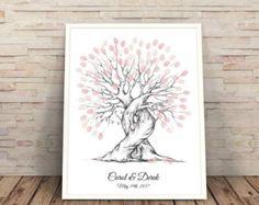 Thumb Print Wedding Tree Guest Book Alternative by WeddingFusions