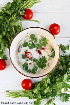 Plantaardigheidjes: Thaise kokossoep met tofu (Tom Kha tofu)