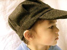 Eddie newsboy hat pattern- free. A boy's pioneer hat?