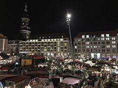 Dresden, Striezelmarkt von oben