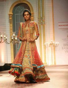 Fashion: Mandira Wirk Shows at Aamby Valley India Bridal Fashion Week 2013 Day 5