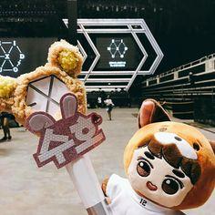 170406 EXO'rDium in Singapore  #EXO #EXOlightstick #EXODoll