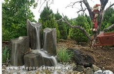 Rock Column Fountains/ theponddigger.com Located in Yucaipa, CA