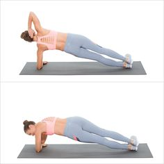 In elbow plank on your right side, twist to bring your left elbow to your right hand. To modify, twist to bring left elbow forward. Thigh Challenge, Plank Challenge, Workout Challenge, Dip Workout, Workout Pics, Workout Exercises, 20 Minute Workout, Strength Training Workouts, Love Handles