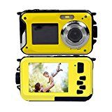 #7: PowerLead Double Screens Waterproof Digital Camera 2.7-Inch Front LCD with 2.7-Inch Camera Easy Self Shot Camera - Shop for digital SLRs (http://amzn.to/2bZ3ZZk) mirrorless cameras (http://amzn.to/2bsCDJs) lenses (http://amzn.to/2bZ35fr) drones (http://amzn.to/2bRmtgx) security cameras (http://amzn.to/2bsBiCG)