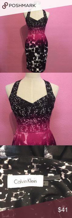 Summer office wear. Dress black & pink Summer office wear. Dress black & pink Calvin Klein Dresses