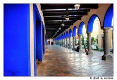 Puebla. Mexico. Portal.