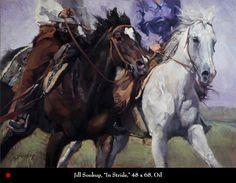 """""""In Stride"""", by Jill Soukup, Oil Painting, Saks Galleries, Cherry Creek, Denver."""