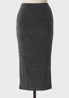 Sparkling Beauty Pencil Skirt In Silver | Modern Vintage New Arrivals