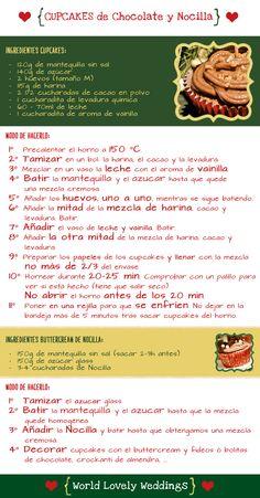 Receta CUPCAKE de Chocolate y Nocilla