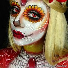 Burning Heart sugarskull Products Used: @mehronmakeup paradise aqua colors in…