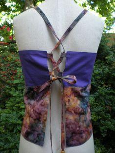 Handmade Hippie Inspired Patchwork Apron Top OOAK Festival Clothes Hippie Clothes Hippie Top Cotton Batik Fabric. $20.00, via Etsy.