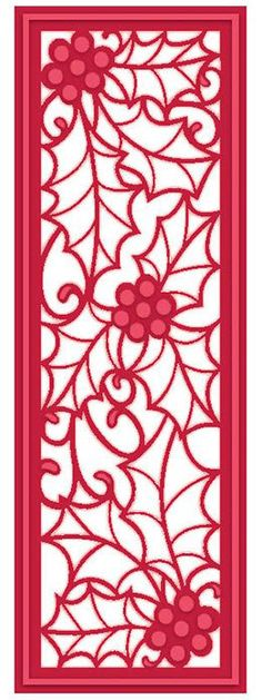Creative Expressions Sue Wilson Die -Festive Collection -HOlly Mini Stripletd - CED3039 by PNWCrafts on Etsy