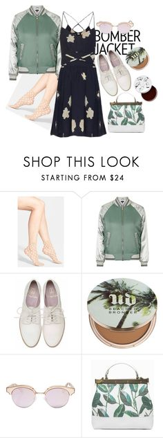 """""""Untitled #130"""" by perrigrine ❤ liked on Polyvore featuring Wolford, Topshop, Urban Decay, Le Specs, Tammy & Benjamin and too cool for school"""
