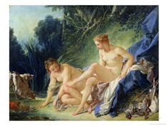 Diana Getting out of Her Bath, 1742 Giclee Print by Francois Boucher at AllPosters.com