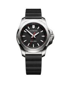 Victorinox Swiss Army, Inc Women's Women's I.N.O.X. Black Rubber Watch - Black - One Size