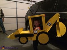 Kaci: Grandad, I want to be a backhoe for Halloween! This is all that had to be said for Grandad to think about making a real backhoe for grandson, Jaxon. You...