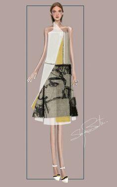 """destrutturato 2"" Sketch | Stefania Belmonte | my collection | Fashion Illustration"