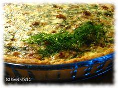 Tonnikalapiirakka | Kinuskikissa - Suomen suosituin leivontayhteisö Quiche, Healthy Recipes, Healthy Food, Pie, Baking, Breakfast, Cupcakes, Healthy Foods, Torte