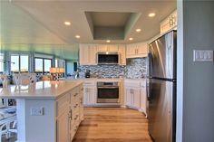 Beachfront Rentals, Port Aransas, Coastal Colors, Rental Property, Beach Themes, Coastal Living, Condo, Kitchen Cabinets, Flooring