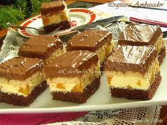 » Prajitura AmbasadorCulorile din Farfurie Romanian Desserts, Romanian Food, Nutella, Sweet Treats, Cooking Recipes, Sweets, Chocolate, Ethnic Recipes, Tiramisu