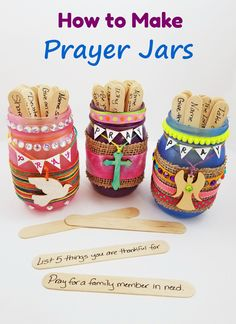 DIY Prayer Jar activity for VBS or Sunday School! This activity can go along wit. - DIY Prayer Jar activity for VBS or Sunday School! This activity can go along with a discussion abou -