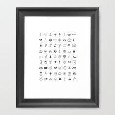 Finger Tattoos Framed Art Print