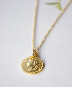 Gold Coin Necklace, $34.00
