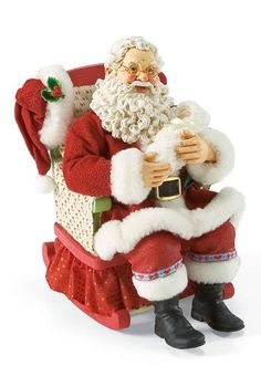 Rockabye Baby - musical | Santa Claus Figurines and Hand Carved Wooden Santas