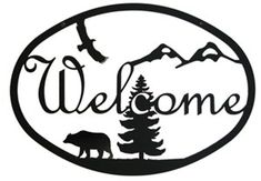 Our decorative wrought iron Deer Welcome Sign features a durable baked on powder coat finish for years of great looks. Wrought iron decor fits well in a variety of settings from rustic to contemporary. Welcome Home Signs, Wrought Iron Decor, Address Plaque, Address Signs, Just Dream, Scroll Saw Patterns, Wood Patterns, Silhouette Cameo Projects, Pyrography