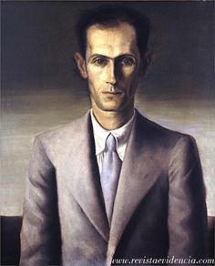 Portrait of Carlos Drummond de Andrade by Candido Portinari (1903-1962)