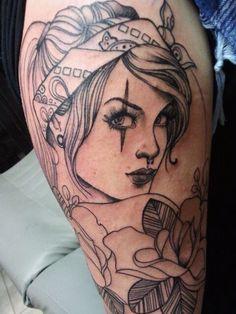 Tattoo by Steffi Boecker at Straight Ink in Brandenburg, Germany.