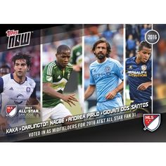 MLS All Star Game Midfielders - 2016 Topps Now Card 5 - Print Run QTY: 81 Cards