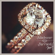 Rose gold diamond engagement ring. My absolute dream ring