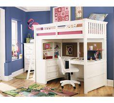 154 best loft bed with desk underneath images bunk beds child rh pinterest com beds that have desks under them