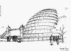 sir norman foster london town hall sketch - Google keresés