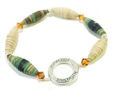 Military Stretch Bracelet Strength Stackable by BrankletsNBling, $15.00