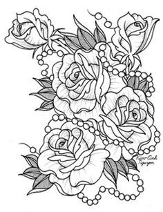 Rose and pearl tat idea