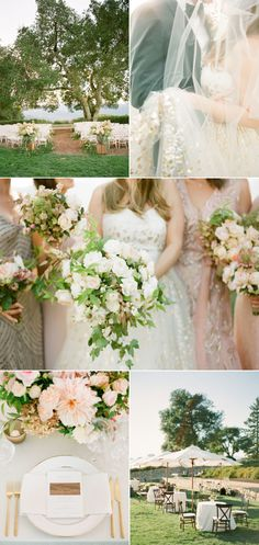 A California Al Fresco wedding in Napa Valley with blush and gold details: http://www.stylemepretty.com/2016/01/07/summer-al-fresco-wedding-in-napa-valley/?ncid=txtlnkussmp00000005