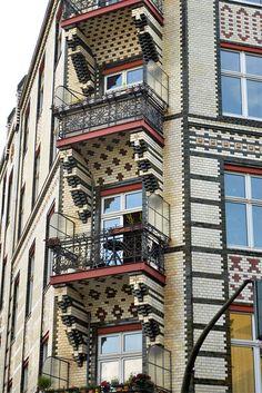 tiles building winterfeldt platz, Berlin Schöneberg district