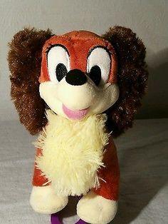Disney Lady Plush soft toy bear from Lady & the Tramp movie