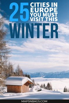 30 Best Winter Destinations in Europe Take a look at the most magical cities in Europe to visit this winter! Get inspired for your Christmas break with these amazing ideas! 25 winter destinations in Europe. Backpacking Europe, Europe Travel Guide, Travel Guides, Travel Packing, Travel Checklist, Travel Goals, Destinations D'europe, Best Winter Destinations, Winter Vacations
