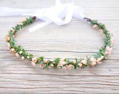 Dried Flower Crown Bridal Crown Flower by MoonflowerNatureArt