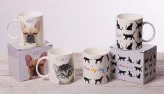 Tazas como Perros y Gatos. Perfectas para un buen desayuno, ideales como regalo para amantes de estas mascotas #tazas #perros #gatos #originales
