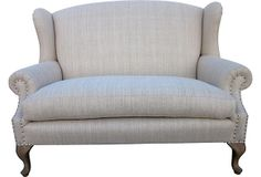 Wingback Settee on OneKingsLane.com