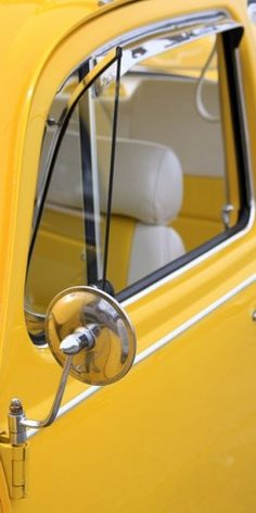 vw... that's what I want a vintage yellow bug..Sweet