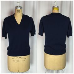 Vintage Givenchy Sport Navy Mod V Neck Sweater 38 | eBay