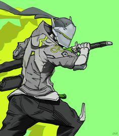 Gengi Overwatch, Overwatch Video Game, Samurai Concept, Armor Concept, Game Character Design, Character Art, Overwatch Hero Concepts, Genji Shimada, Rainbow Six Siege Memes